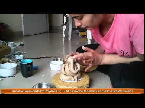 Make eco-friendly Ganesha using paper mache clay - Part I