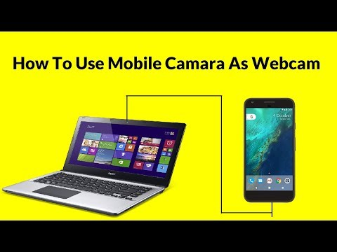 How To Use Mobile Camera As Web Camera on PC [HINDI]
