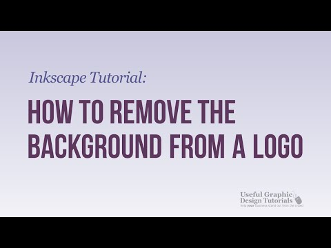 How to  remove the background from a Logo - Inkscape Tutorial