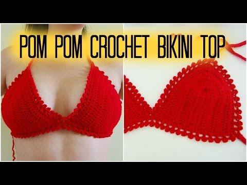 DIY Pom Pom Picot Bikini/Bralette Top