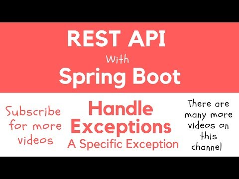 REST API with Spring Boot - Catch a Specific Exception