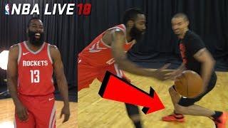 IRL Basketball vs NBA LIVE 18 COVER STAR! JAMES HARDEN BROKE MY ANKLES! (NBA Live 18 Cover Reveal)