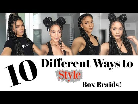 10 Ways to Style Box Braids - Quick, Easy & Trendy!