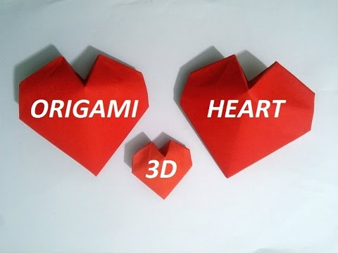 Origami 3D Paper Heart (slower version)