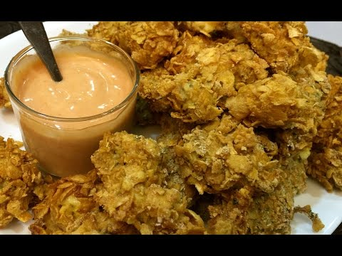 Baked Chicken Nuggets Using Corn Flakes