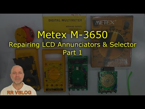 Multimeter Repair, Metex M 3650 1989, Part 1