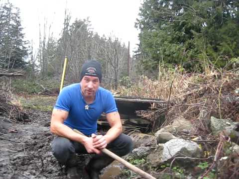 Digging a Drainage Trench on a Winter Day Part 2