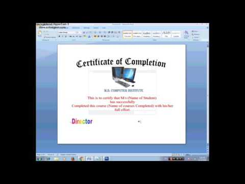 How to make a Certificate of Appreciation in Ms Word