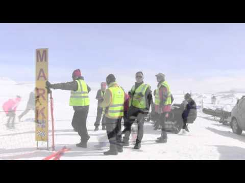 Orkugangan 60 km Ski Race from Myvatn to Husavik, Iceland.