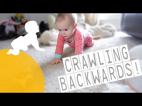 THIS BABY IS CRAWLING BACKWARDS!