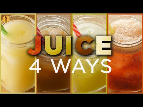 Fresh Juices 4 Cool Ways. Recipes by Food Fusion