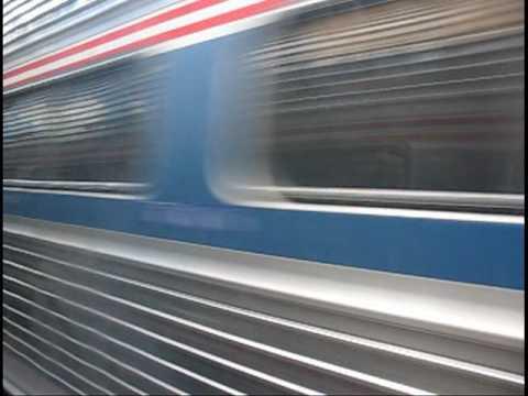 Broken down Amtrak train