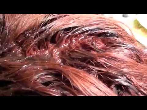 HAIRCOLOR formula;  Red color to cover gray (must add something else to look good)