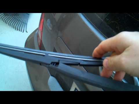 Changing the rear wiper blade on a scion xa or xb