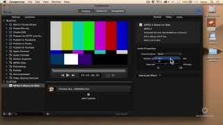 How To Change Audio Compression Settings (Apple Compressor)