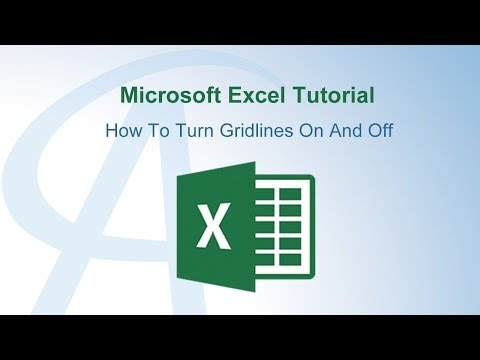 How To Turn Gridlines On And Off In Excel
