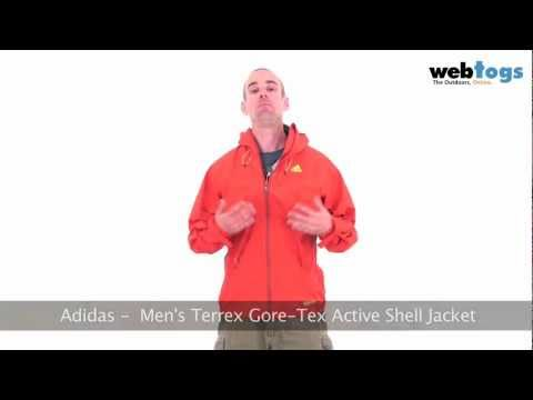 Adidas Men's Terrex Gore-Tex Active Shell Jacket - Super Lightweight, Breathable, Waterproof ...