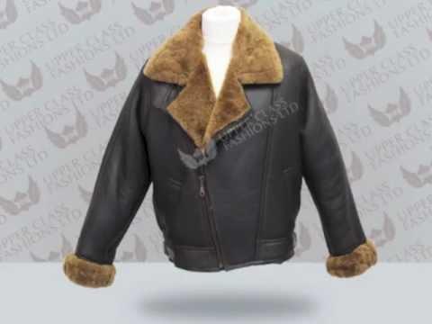 Mens Sheepskin Leather Jacket