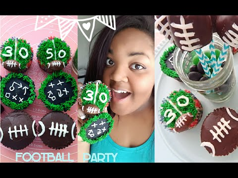 Super Bowl/Football Party Cupcakes & Marshmallow Pops | DIY w/ Mom