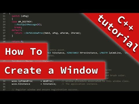 C++ Tutorial: Create a Simple Window