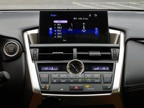 How to Remove Display Monitor from Lexus NX200t 2016 for Repair.