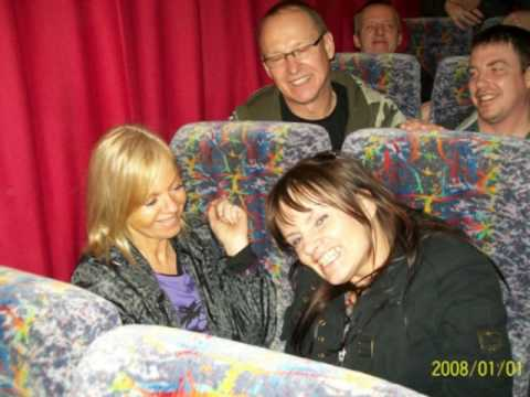sinners ensemble 02 arena Glasgow,,,fans bus..forever and a day