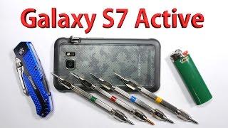 Galaxy S7 Active Scratch test, Bend test, Burn test - Durability video