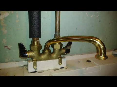 How to replace a laundry room tub faucet.. In my basement