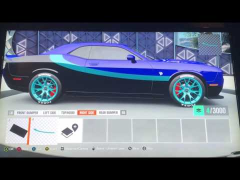 Dodge Challenger Hellcat Forza Livery Tutorial