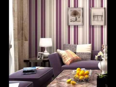 Purple wallpaper design ideas for living room