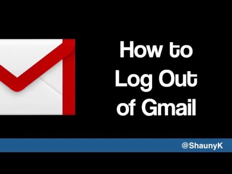 Gmail Help - How to log out of Gmail