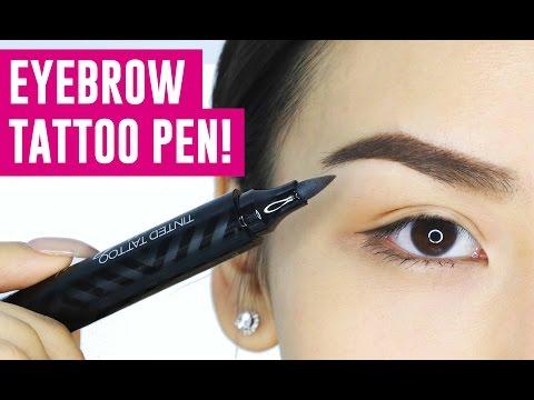 EYEBROW TATTOO PEN! OMG Does it work?  || TINA TRIES IT