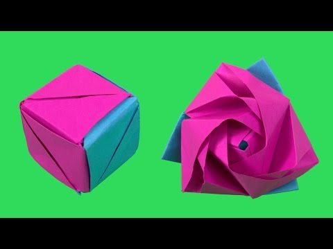Magic Rose Cube Origami