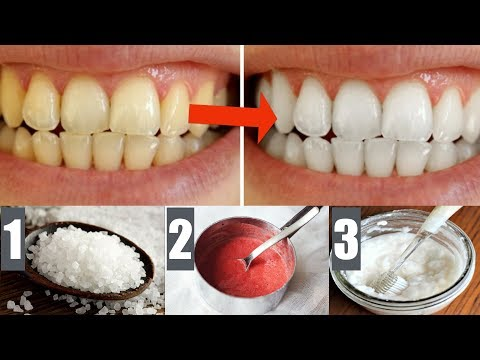 How To Use Sea Salt, Baking Soda, Apple Cider Vinegar To Whiten Your Yellow Teeth Naturally