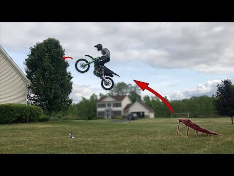 INSANE BACKYARD DIRT BIKE FREESTYLE RAMP!!!