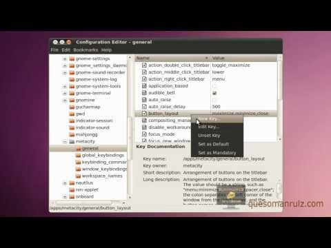 Move Ubuntu 10.04 Window Controls