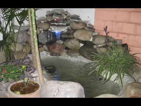 DIY Construct small fish Pond and waterfall in your garden