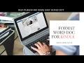 Formatting Word For Kindle (EPUB Or MOBI)