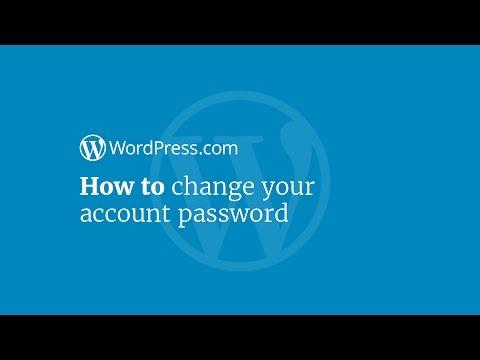 WordPress Tutorial: How to Change Your Password