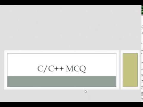 C and C++ MCQ Question Answers