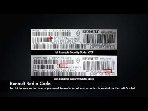 Renault Radio Code From Serial Number | Clio Megane Scenic Stereo Codes