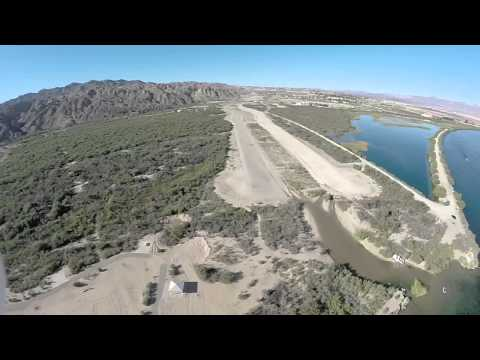 Drone video of big bend state park in Nevada.