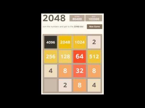 2048 game - 8192 tile - score 132688 - full game