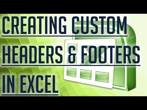 [Free Excel Tutorial] CREATING CUSTOM HEADERS AND FOOTERS TO PRINT IN EXCEL - Full HD