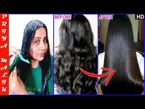 Only In 30 Min. Permanent Hair Straightening at Home with all Natural Ingredients - Priya Malik