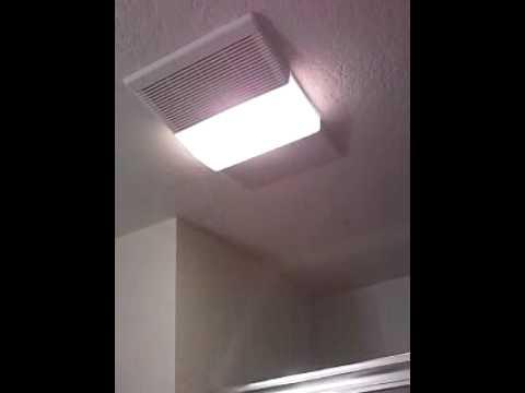 nutone light fan heater combo unit pt 2