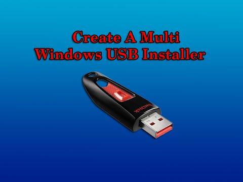 Create Multi Windows USB Installer
