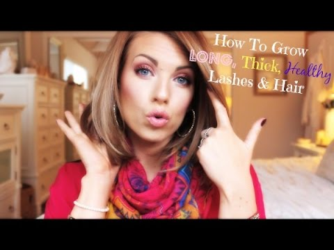 ❤ How To Grow Long, Thick, Healthy Lashes & Hair ❤