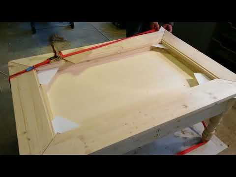 display table the  tabletop with wood inlay pt I