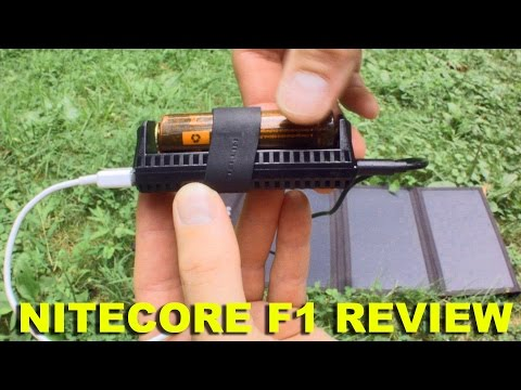 Nitecore F1 lithium ion USB battery charger and portable powerbank review